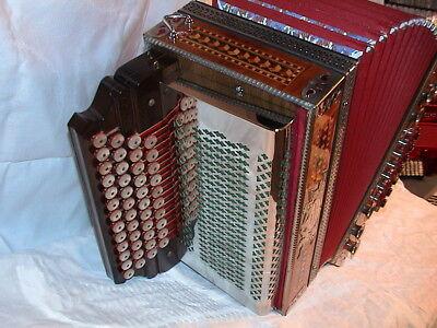 Kärntnerland Schwarz - Steirische Harmonika,(As, Des, Ges, H ) Styrian accordion
