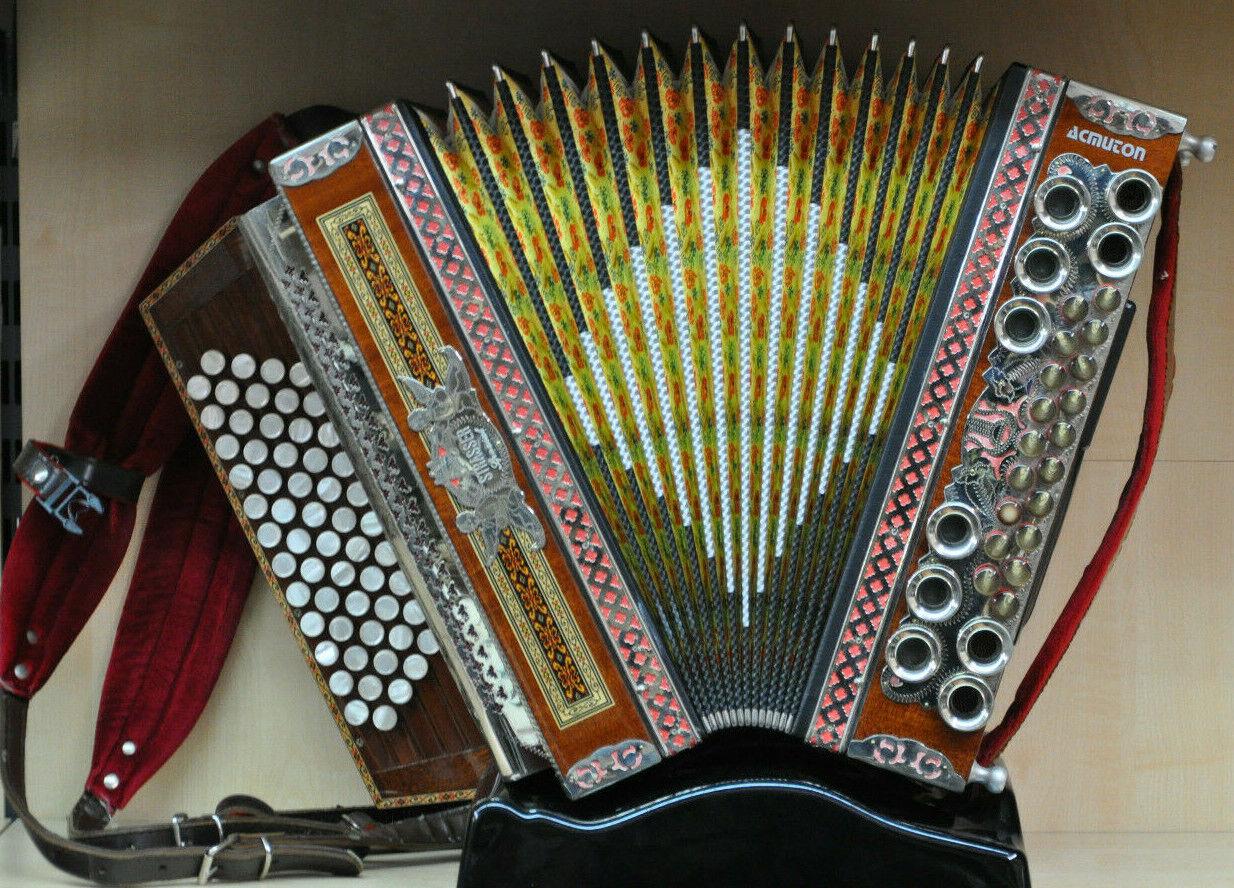 Steirische Harmonika, Strasser De Luxe * 19 Bass * Top Zustand