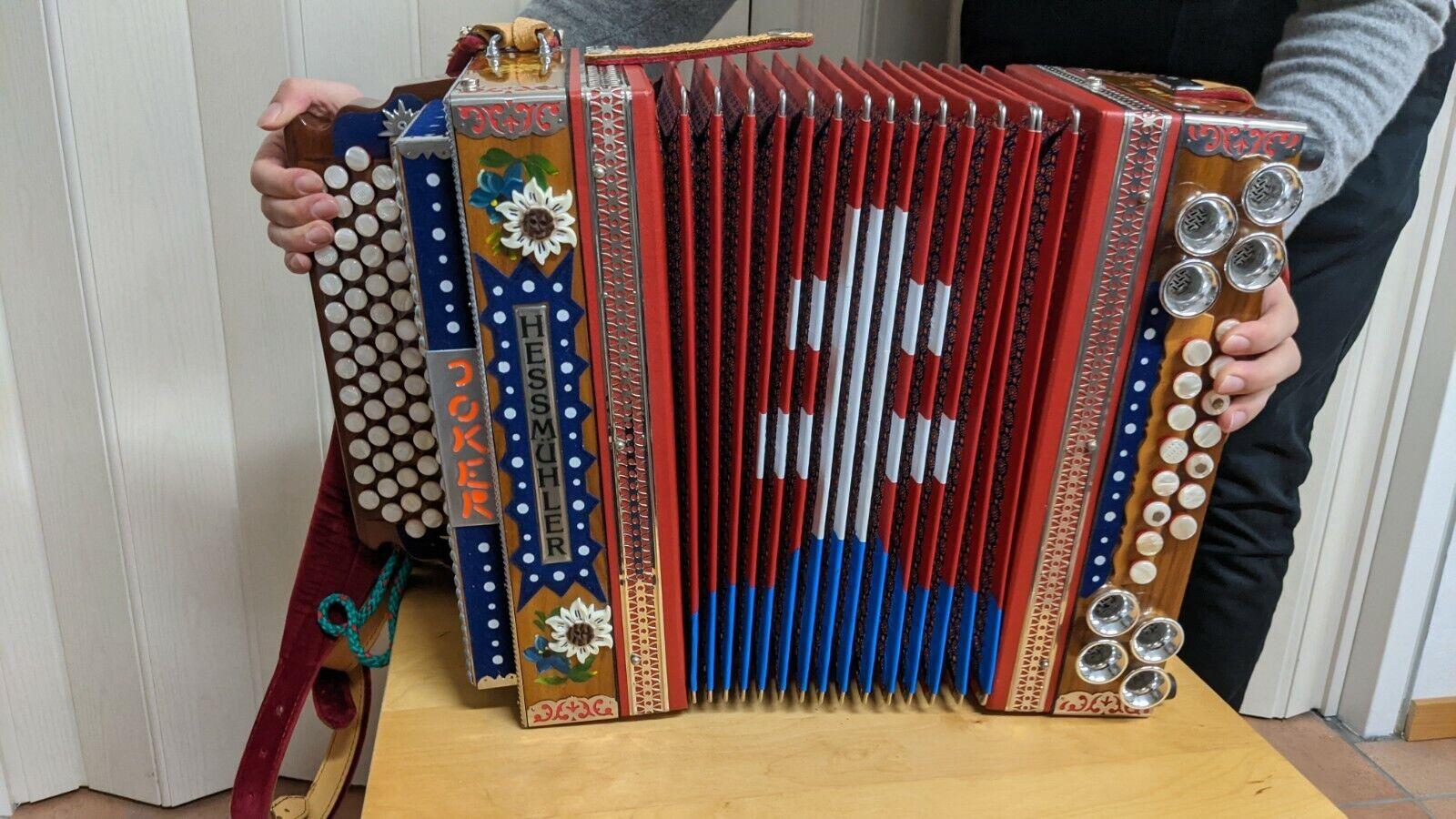 Hessmühler Steirische Harmonika Töne chromatisch Bässe helikon 3-chörig 5 reihig