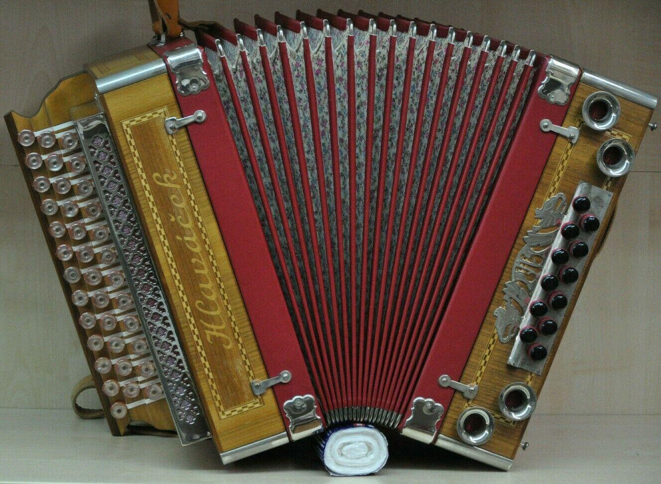 Harmonika *Hlavacek 3-Reiher* Steirisch, 12 Bass *TOP Zustand*