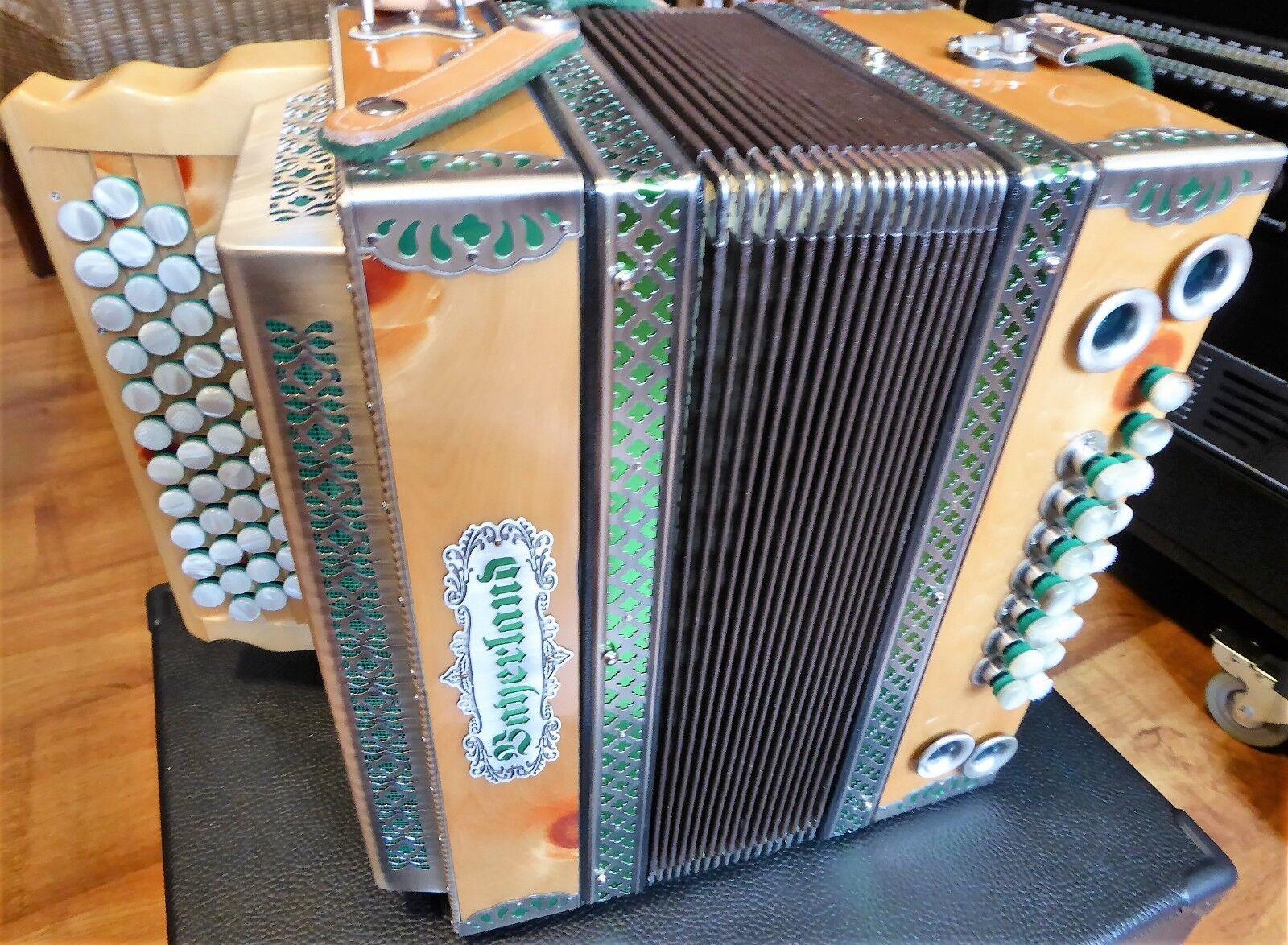 steirische harmonika bayerland holz hochglanz 4 reihig - g,c,f,b - fast neu