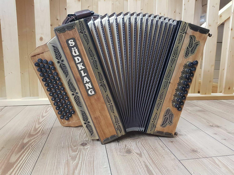 Steirische Harmonika Südklang Modell Jeruzalem G C F B