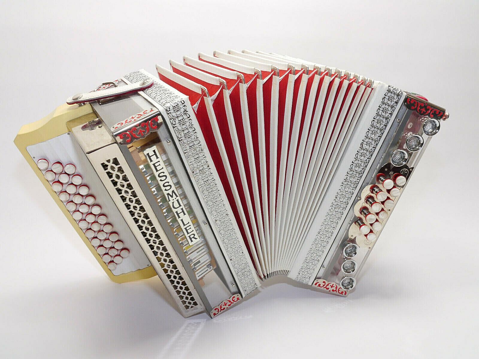 Steirische Harmonika, Hessmühler, G-C-F , durchsichtig