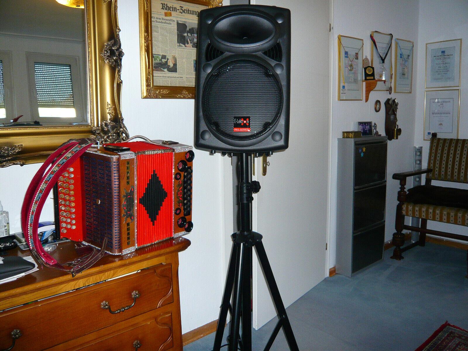 steirische Harmonika selbstspielend mit Funkanlage und PA Soundsystem