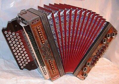 Kärntnerland Schwarz - Steirische Harmonika,( B, Es, As, Des ) Styrian accordion