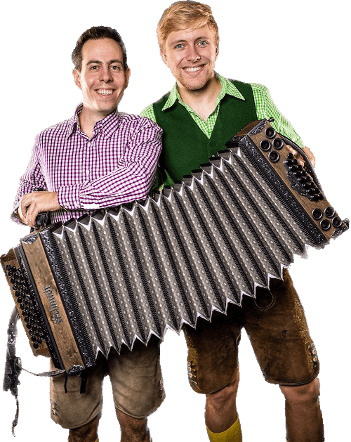 Stefan und Thomas mit Harmonika