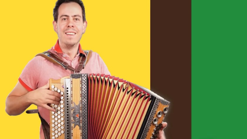 Wo der Wildbach rauscht Griffschrift Steirische Harmonika